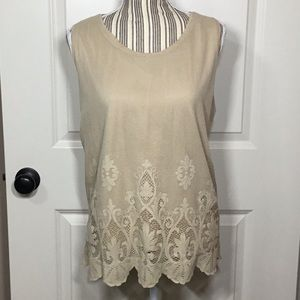 Chico's Beige Lace Tank